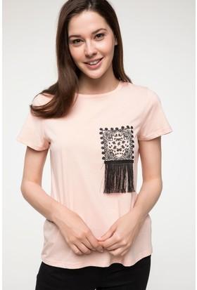 Defacto Püskül Detaylı Baskılı T-Shirt