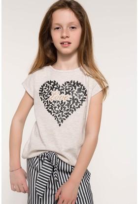 Defacto Kalp Baskılı T-Shirt