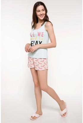 Defacto Şortlu Pijama Takımı