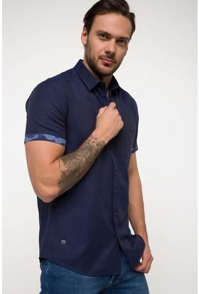 Defacto Tek Cep Detaylı Kısa Kolluk Gömlek