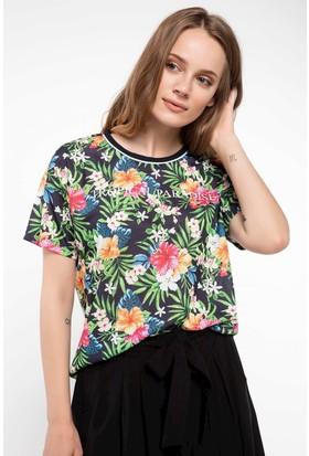 Defacto Tropik Desenli T-Shirt