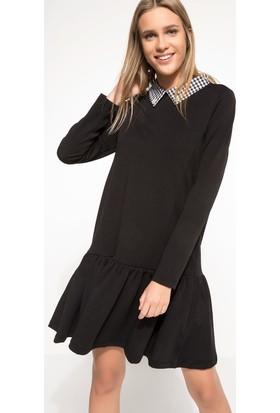Defacto Yaka Detaylı Elbise