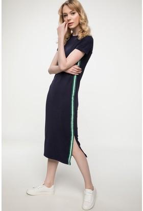 Defacto Yanı Şerit Detaylı Trend Elbise