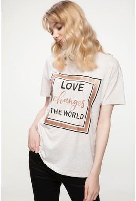 Defacto Yazı Baskılı T-Shirt
