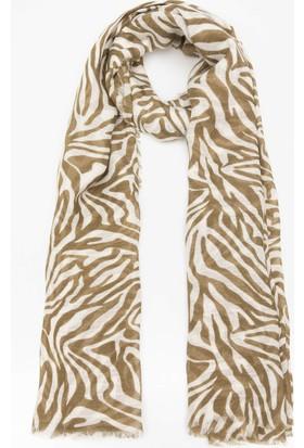 Defacto Zebra Desenli Şal