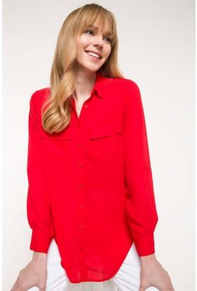 Defacto Cep Detaylı Gömlek Tunik