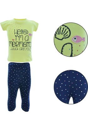 Peri Masalı Kız Çocuk T-Shirt Tayt 2'li Takım 6478