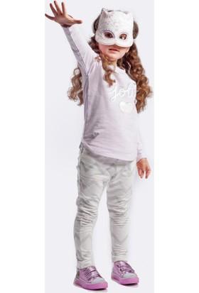 Wogi Kız Çocuk Eşofman Takımı Maskeli 3 4 5 6 Yaş 7285