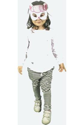 Wogi Kız Çocuk Eşofman Takımı Maskeli 3 4 5 6 Yaş 7286