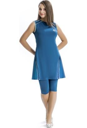 Armes Yarım Tesettür Kadın Elbise Mayo 8105
