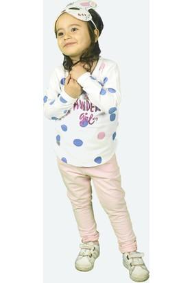 Wogi Kız Çocuk Eşofman Takımı Maskeli 3 4 5 6 Yaş 7284 Saks