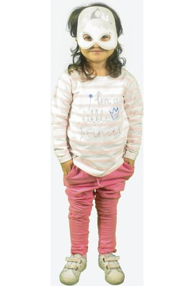 Wogi Kız Çocuk Eşofman Takımı Maskeli 3 4 5 6 Yaş 7282 Pembe