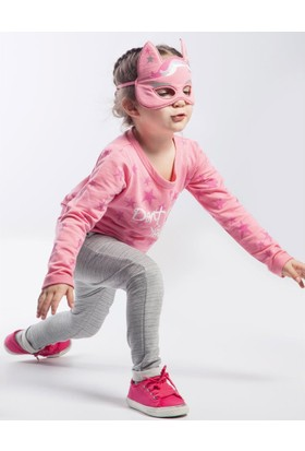 Wogi Kız Çocuk Eşofman Takımı Maskeli 3 4 5 6 Yaş 7281 Pembe