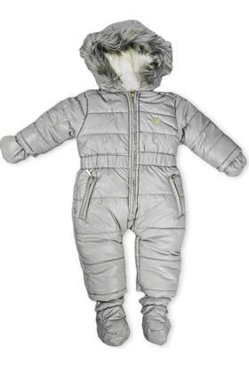 Midimod Kız Bebek Astronot Kozmonot Patikli Eldivenli Tulum Füme