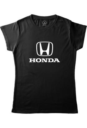 Art T-Shirt - Honda Araba Logo Kadın Tişört