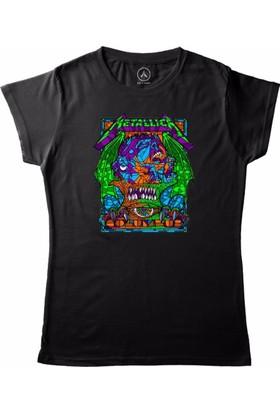 Art T-Shirt - Metallıca Colombus Kadın Tişört