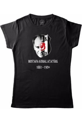 Art T-Shirt - Beşiktaş Atatürk Kadın Tişört