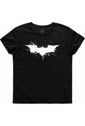 Art T-Shirt - Batman Cracked Logo Erkek Tişört