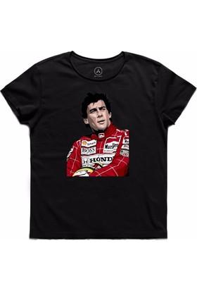 Art T-Shirt - Ayrton Senna Honda Erkek Tişört