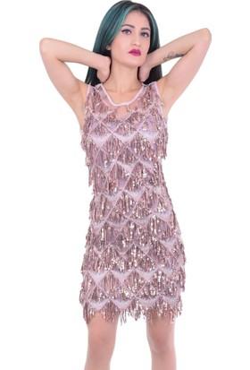 Ecrin 4157 Kadın Baklava Desen Abiye - 18-1B530003