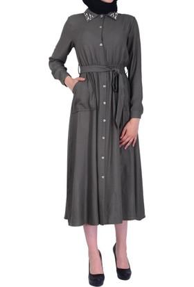 Helly He-7035 Kadın Cepli Elbise - 18-1B677046