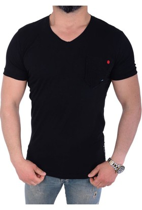 Fabregas 8015 Erkek V Yaka Tshirt - 18-1E457010