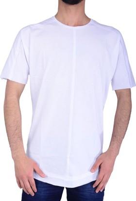 Eksi-1 18704 Erkek Bisiklet Yaka Tshirt - 18-1E436003