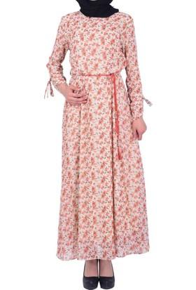 Estelle - Bilge Yılmaz 0490 Çiçekli Kadın Elbise - 18-1B571051