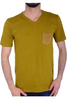 Lock 18203 Erkek V Yaka Tshirt - 18-1E200015
