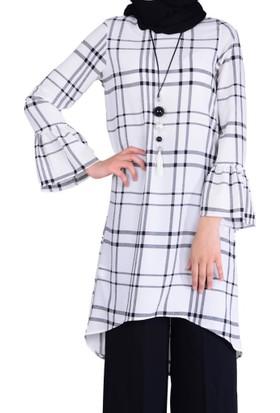 Estelle - Bilge Yılmaz 5511 Kareli Kadın Tunik - 18-1B571060