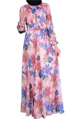 Stilife 4029 Çiçekli Kadın Elbise - 18-1B225022