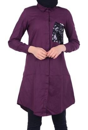 Lustrin 2585 Kadın Cepli Gömlek - 18-1B633038