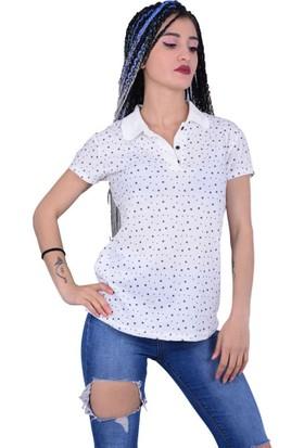 Divon Tekstil - Divon 7579 Kadın Yıldız Baskılı Tshirt - 18-1B664001