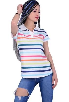 Divon Tekstil - Divon 6507 Kadın Çizgili Tshirt - 18-1B664002