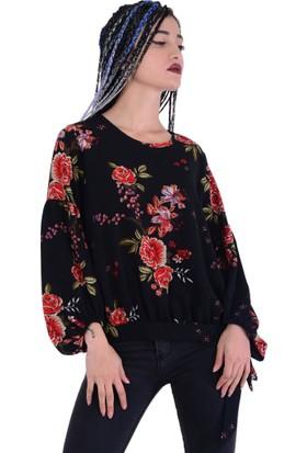 Estelle - Bilge Yılmaz 5507 Kadın Çiçekli Bluz - 18-1B571059