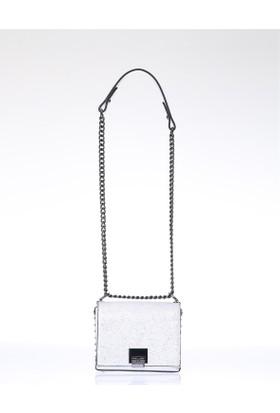 Exclusive Kadın Flap Askılı Çanta Gümüş