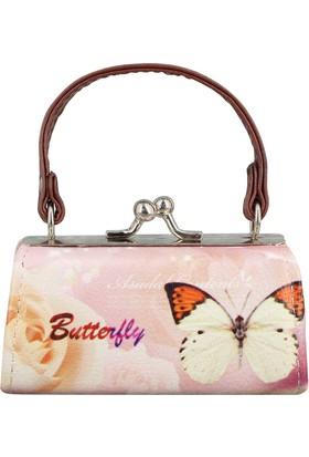 Mathilde Butterfly Mini Bozuk Para ve Anahtarlık Çantası