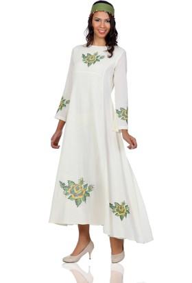 Eliş Şile Bezi Uzun Kol Sıla Elbise
