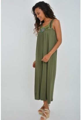 Rodin Hills Haki Hazır Yaka Elbise 200090