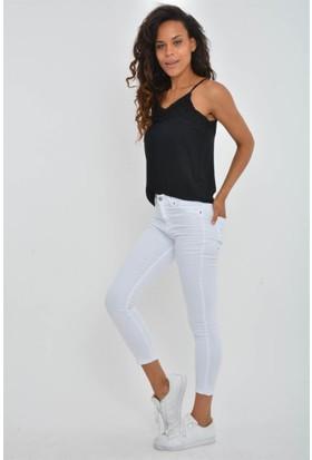 Rodin Hills Beyaz Yüksek Bel Kot Pantolon 22500