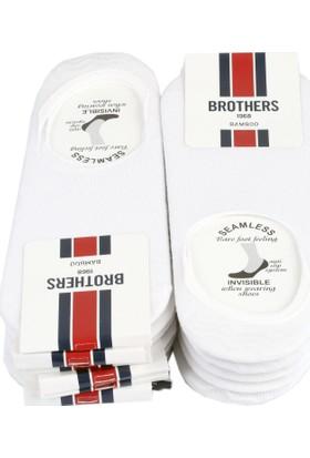 Brothers 12'Li Beyaz Görünmez Babet Çorap Crp39