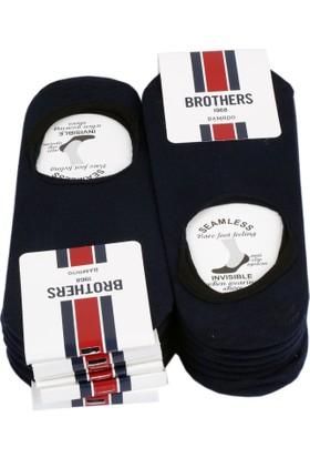 Brothers 12'Li Lacivert Görünmez Babet Çorap Crp40