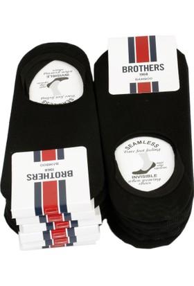 Brothers 12'Li Siyah Görünmez Babet Çorap Crp38