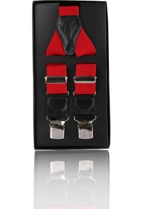 La Pescara Kırmızı Düz Pantolon Askısı Pan11