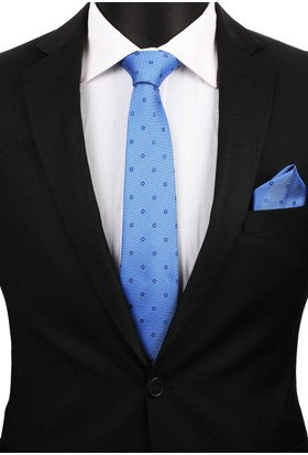 La Pescara Mavi Mendilli Klasik Kravat 2953