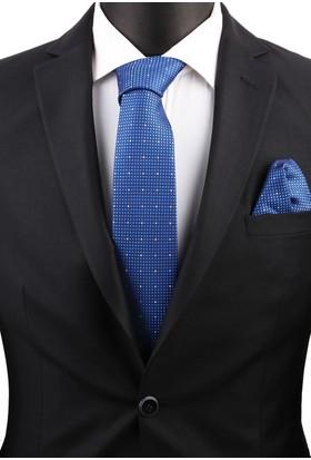 La Pescara Mavi Mendilli Klasik Kravat 3489