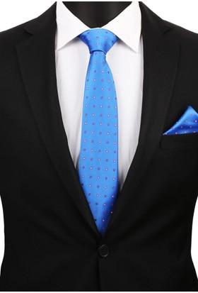 La Pescara Mavi Mendilli Klasik Kravat 2925