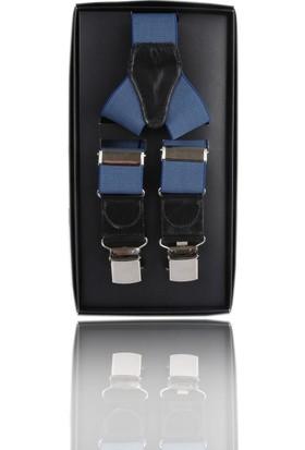 La Pescara Mavi Düz Pantolon Askısı Pan15