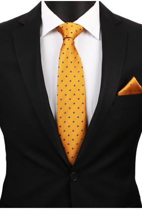 La Pescara Sarı Mendilli Klasik Kravat 2916