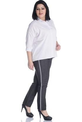 Myline Yandan Şeritli 5 Cep Pantolon